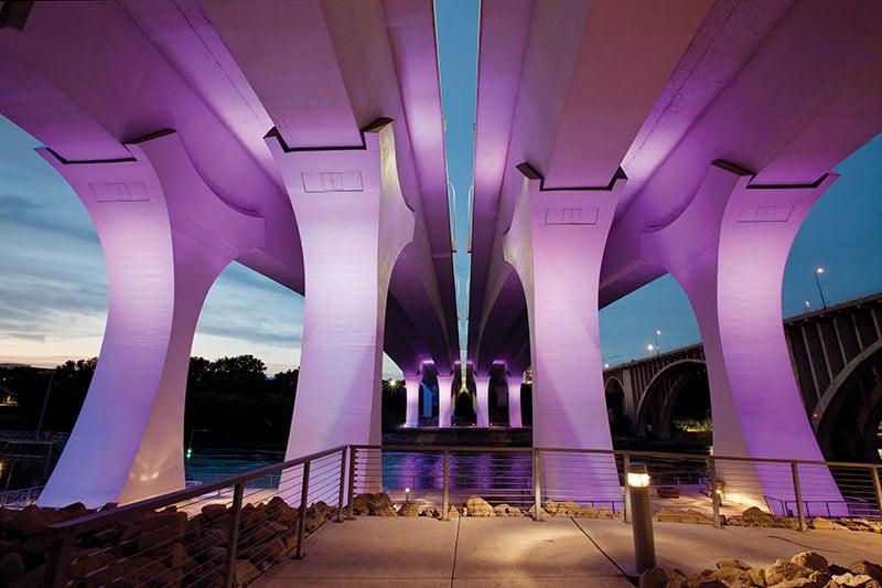St. Anthony Falls I 35 Bridge Substructure In Minneapolis, Bridg