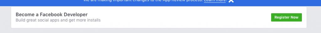 Become A Facebook Developer