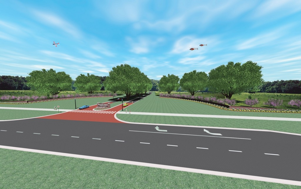 Naval Air Station Whiting Field entrance render