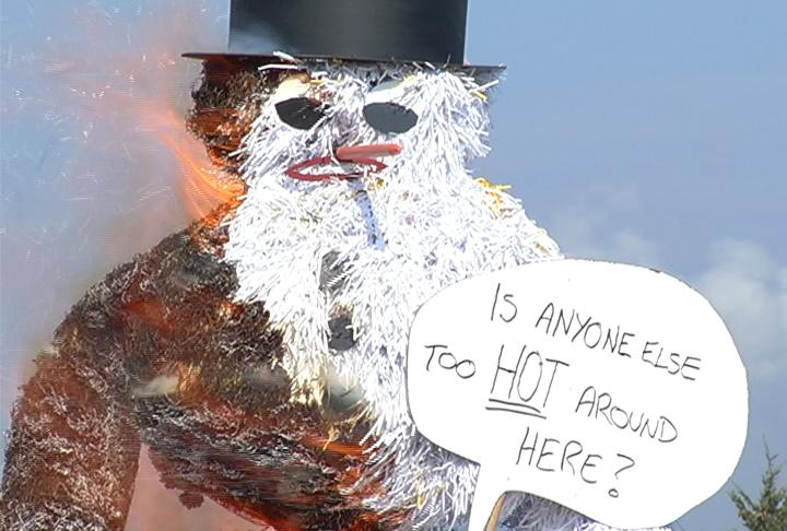 LSSU Welcomes Spring With Annual Snowman Burning