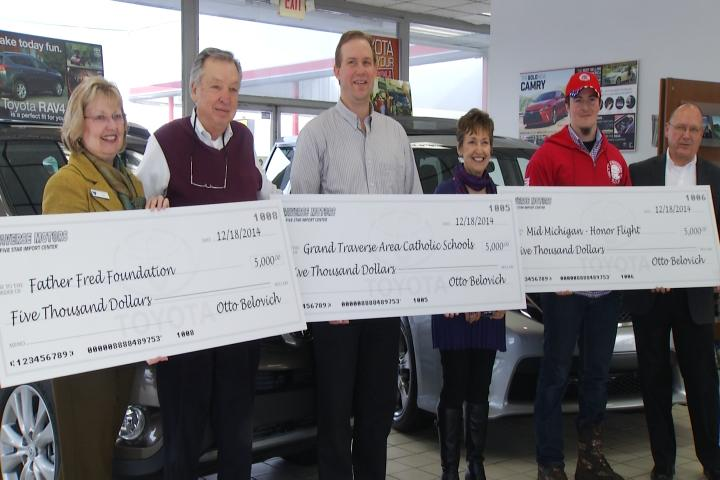 Traverse Motors Owner Donates 5 000 To Four Charitable