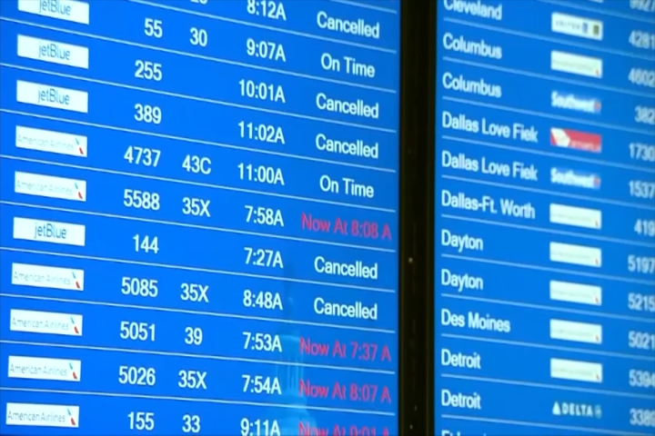 LAX Flights Cancelled, Delayed Due To East Coast Snowstorm
