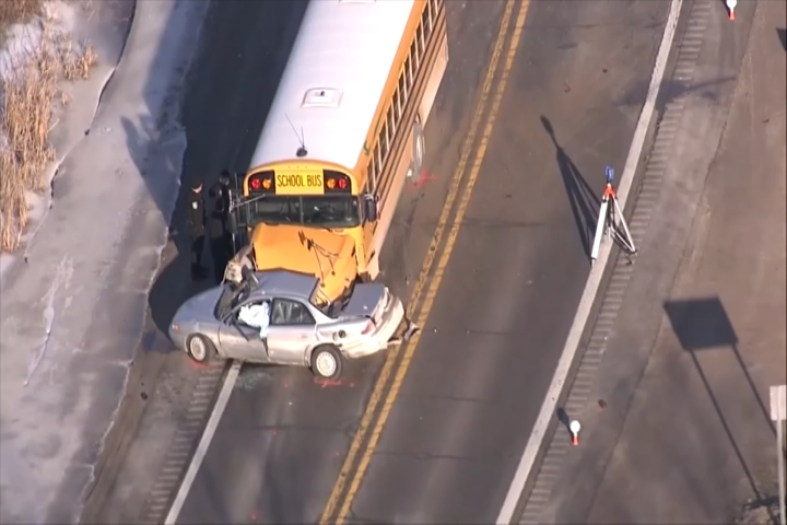 Woman Dies After Crash With Downstate School Bus