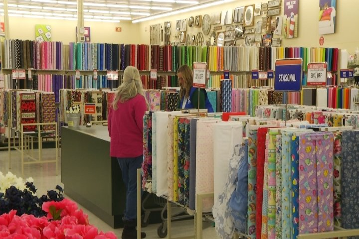 a flood of crafters are walking into the cadillac hobby lobby after its grand opening on monday - Hobby Lobby After Christmas Sale