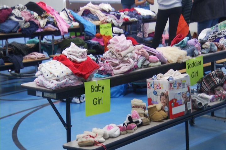 Donation Event Allows People To Grab And Go