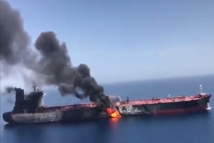 Oil Tankers Attacked, Gulf of Oman - 9 & 10 News
