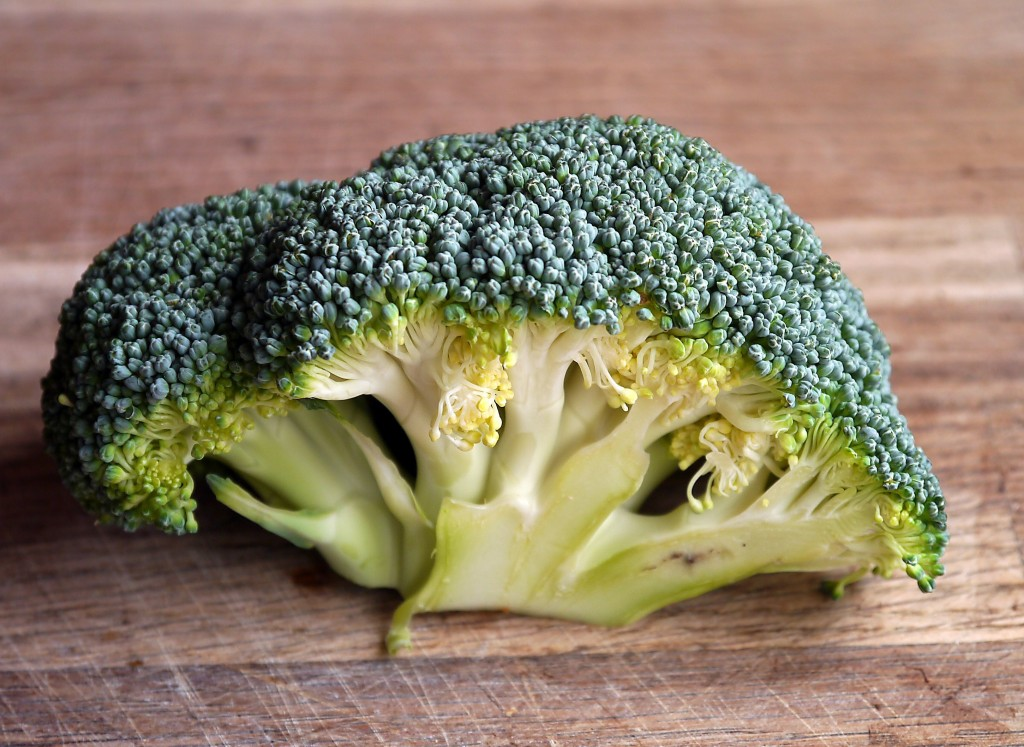 Green Broccoli Vegetable On Brown Wooden Table 47347