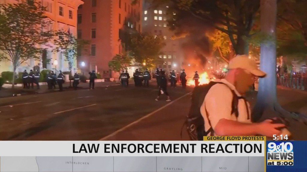 Law Enforcement Reaction To Protests