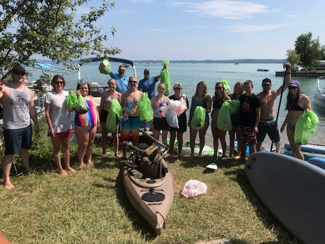 Torch Lake Trash