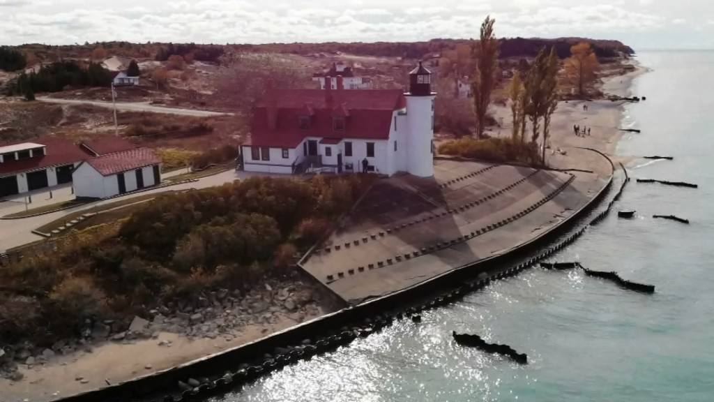 10 23 20 Drone Sns Point Betsie Lighthouse.mov