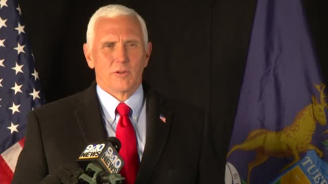 Vice President Pence Discusses Final Midwest Campaign Swing