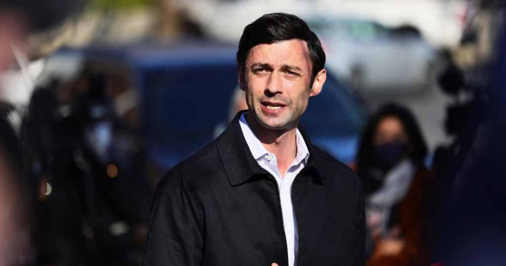 Georgia Senate Candidate Jon Ossoff Visits Polling Location On Day Of Runoff Election