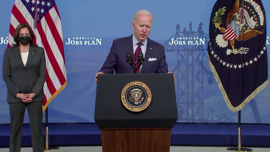 Biden Infrastructure Cbs Screenshot