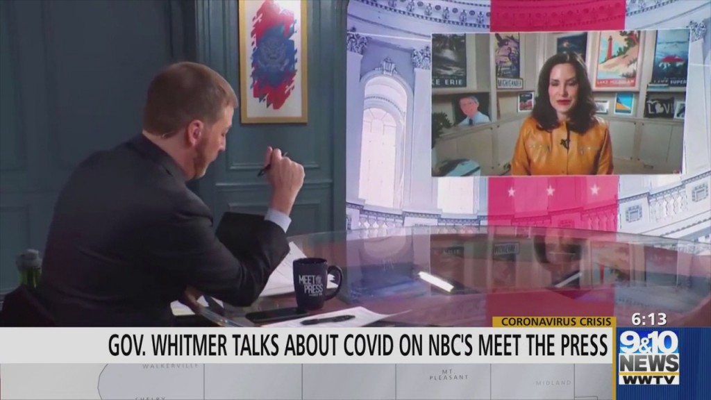 "Gov. Whitmer Speaks About Coronavirus On Nbc's ""meet The Press"""