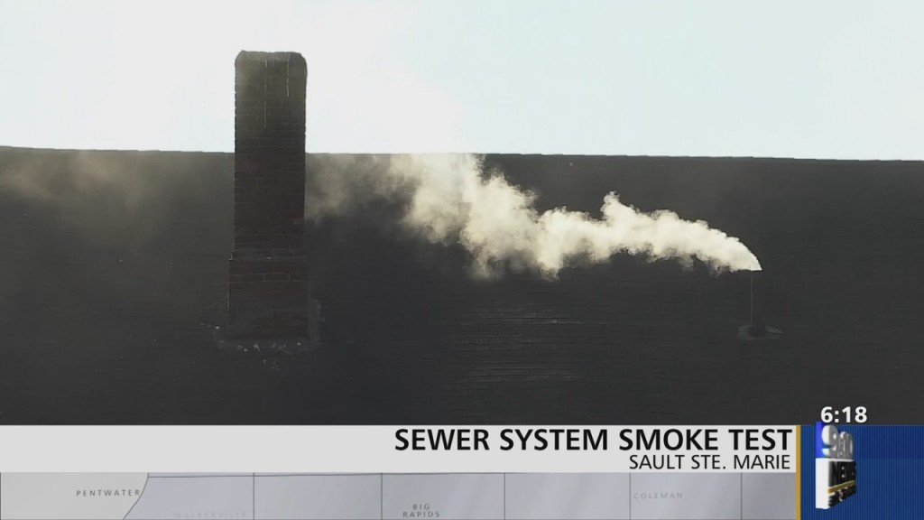 Sault Ste Marie Water Department Conducts Sewer Smoke Test