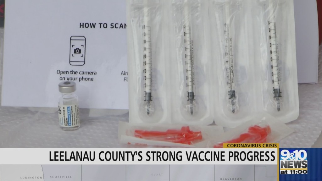 Leelanau County Reaches 70% Vaccine Milestone