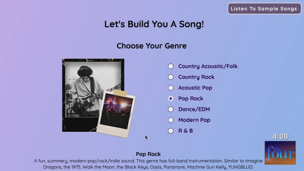 The Four: Melissa & Xavier Get A Personalized Song With Songlorious And You Can Too!