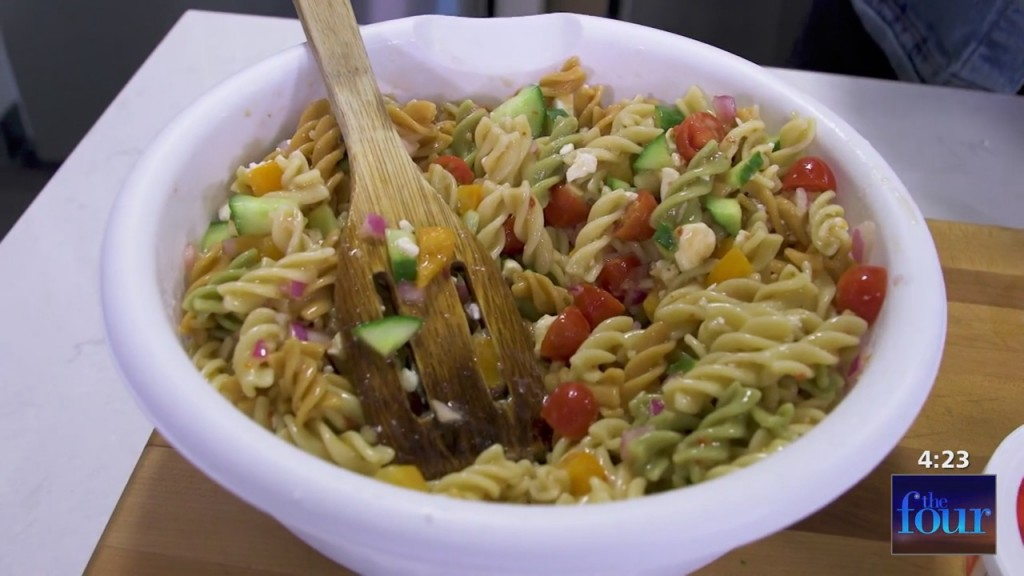 The Four: Xavier Makes Easy Greek Pasta Salad Perfect For Summer Cookouts