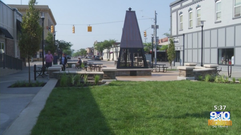 Ludington Finishes New Downtown Plaza, A Project Idea Originated In The 80's