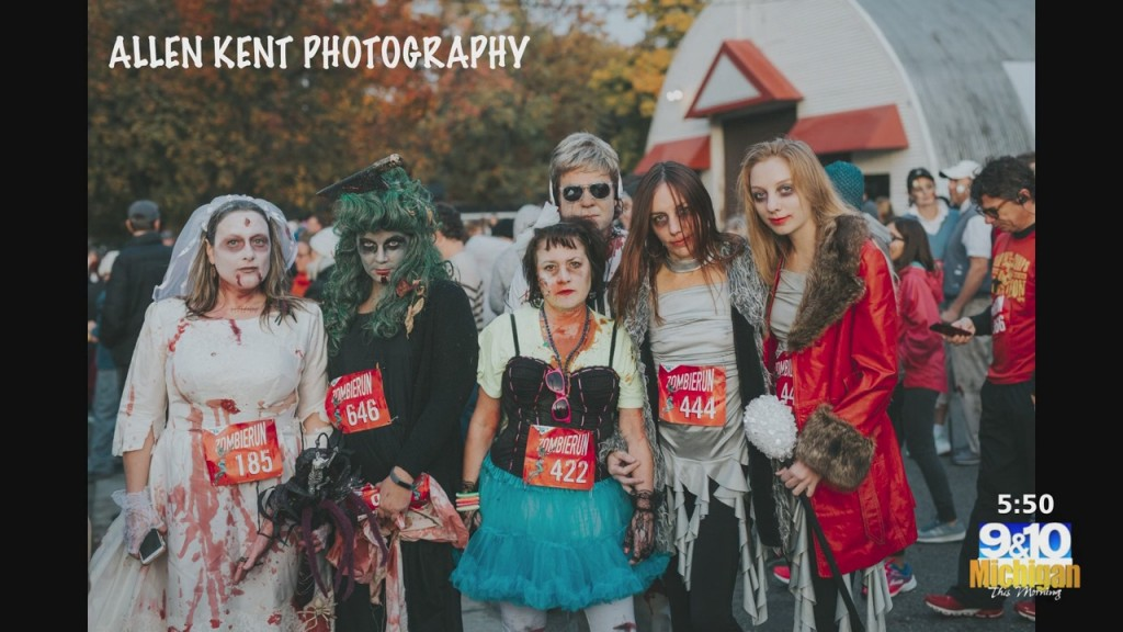 Mtm On The Road: Zombies Move In For 13th Traverse City Zombie 5k