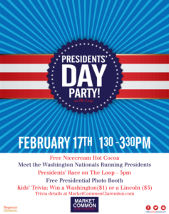 Presidents' Day with the Nats' Running Presidents! @ Market Common Clarendon