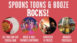 Spoons, Toons & Booze Rocks! @ Arlington Cinema & Drafthouse