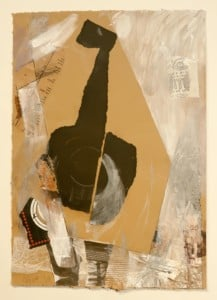 """""""Santa Fe & Jazz"""" - Multi-Media Collages & Paintings by Judy Bass @ Fred Schnider Gallery of Art"""