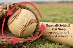 Baseball/Softball Gear Swap @ Casual Adventure