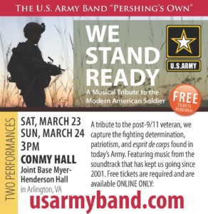 "US Army Band's ""We Stand Ready"" Concert @ Conmy Hall on Joint Base Myer-Henderson Hall, Va."