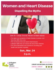 Women and Heart Disease: Dispelling the Myths @ Arlington Public Library