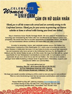 Celebrate Women in the Uniformed Services @ Vietnamese Literary and Artistic Club