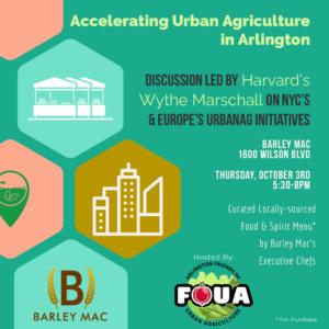Accelerating Urban Agriculture in Arlington @ Barley Mac