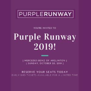 5th Annual Purple Runway @ Mercedes-Benz of Arlington