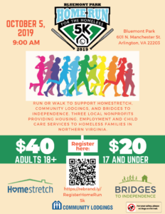 Home Run for the Homeless 5K @ Bluemont Park