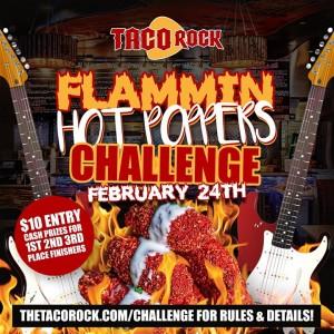 Flammin' Hot Poppers Challenge @ Taco Rock |  |  |