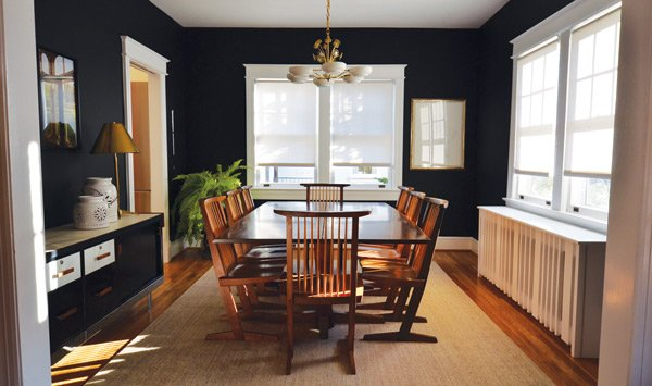 Wall Color: Benjamin Moore Black. Photo Courtesy Of Nicole Lanteri
