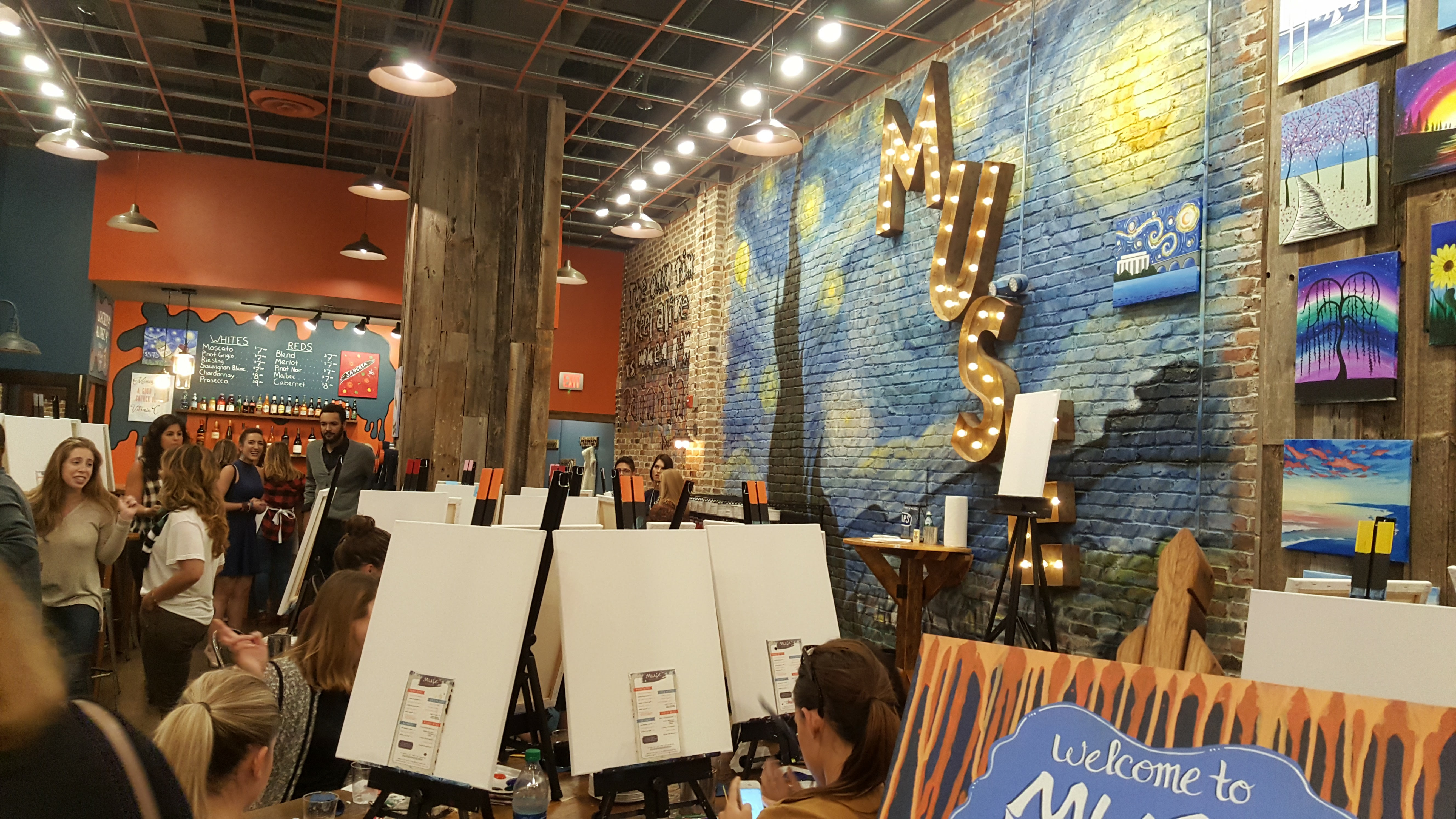 Eat Drink Paint At Muse Paintbar Arlington Magazine