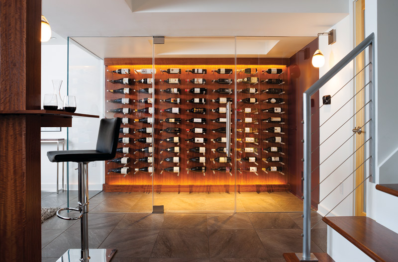 The Falls Church basement has storage for 230 wine bottles. & Great Spaces: Not Your Average Wine Cellar - Arlington Magazine