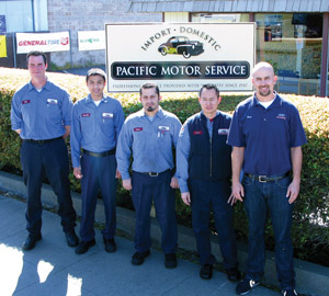 The Monterey team includes, from left: Phil Hellyer, Ray Perez, Victor Leon, Tuan Tran and Beau Blackwell.