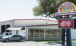 Mid-Cities Service Center, one of two automotive service and repair shops owned by Bob Parra, sits on two acres in Euless, Texas. Bob's first shop was established in 1987. Bob's newest shop, Parra Car Care, is 3 years old. It's also in Euless. Bob's wife, Caroline, who has a degree in accounting from Texas Christian University, is the firm's chief financial officer.