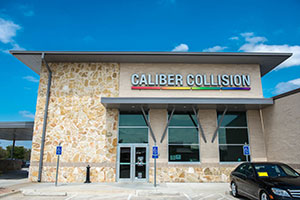 he Caliber Collision shop in Frisco, Texas