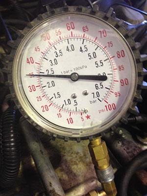 Figure 2: Full key-on pressure.