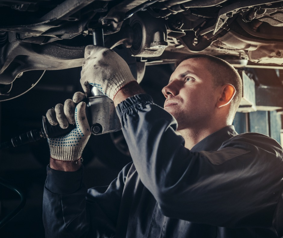 Professional Mechanic Repairing A Car In Auto Repair Shop Picture Id685796748