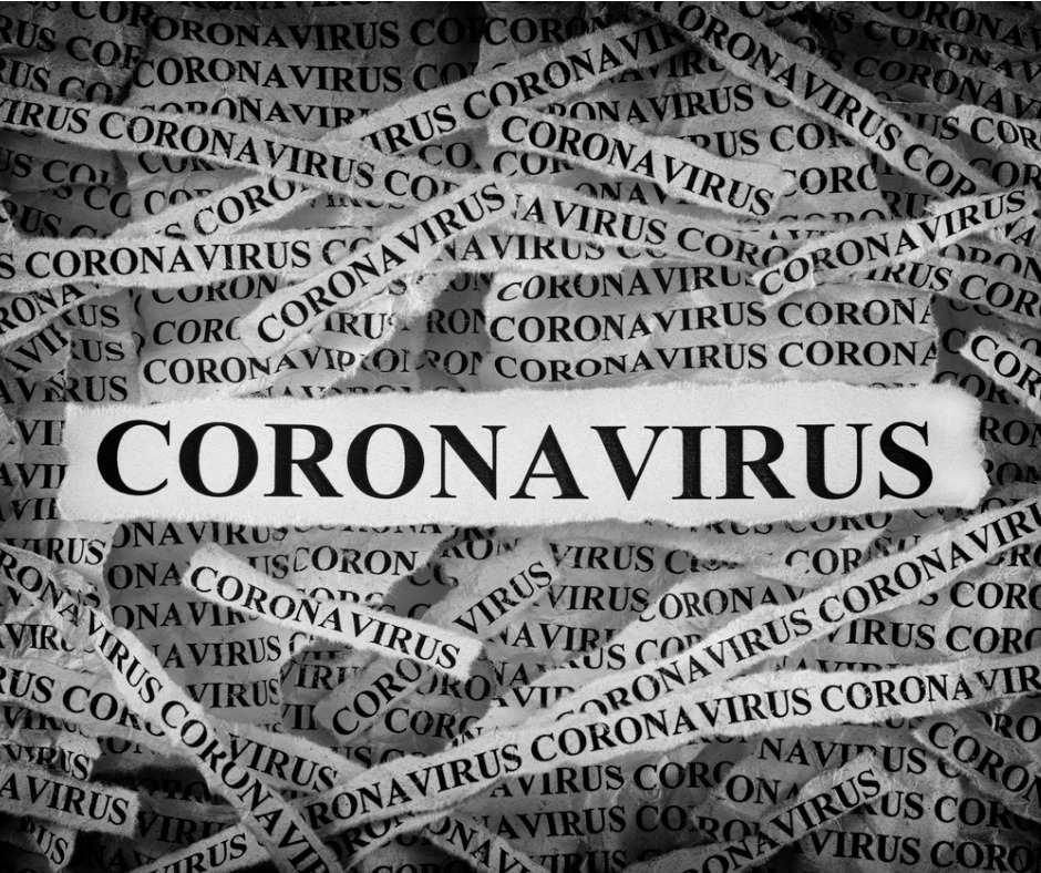 Strips Of Newspaper With The Word Coronavirus Typed On Them Picture Id1202565263