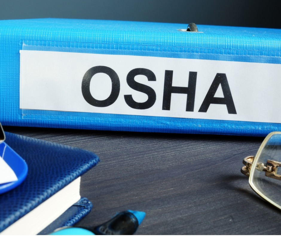 Folder With Label Occupational Safety And Health Administration Osha Picture Id1133518186