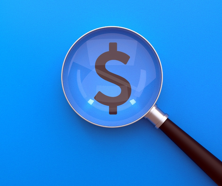 Searching Magnifier Glass Dollar Dollar Icon Under Magnifying Glass Picture Id1180233813