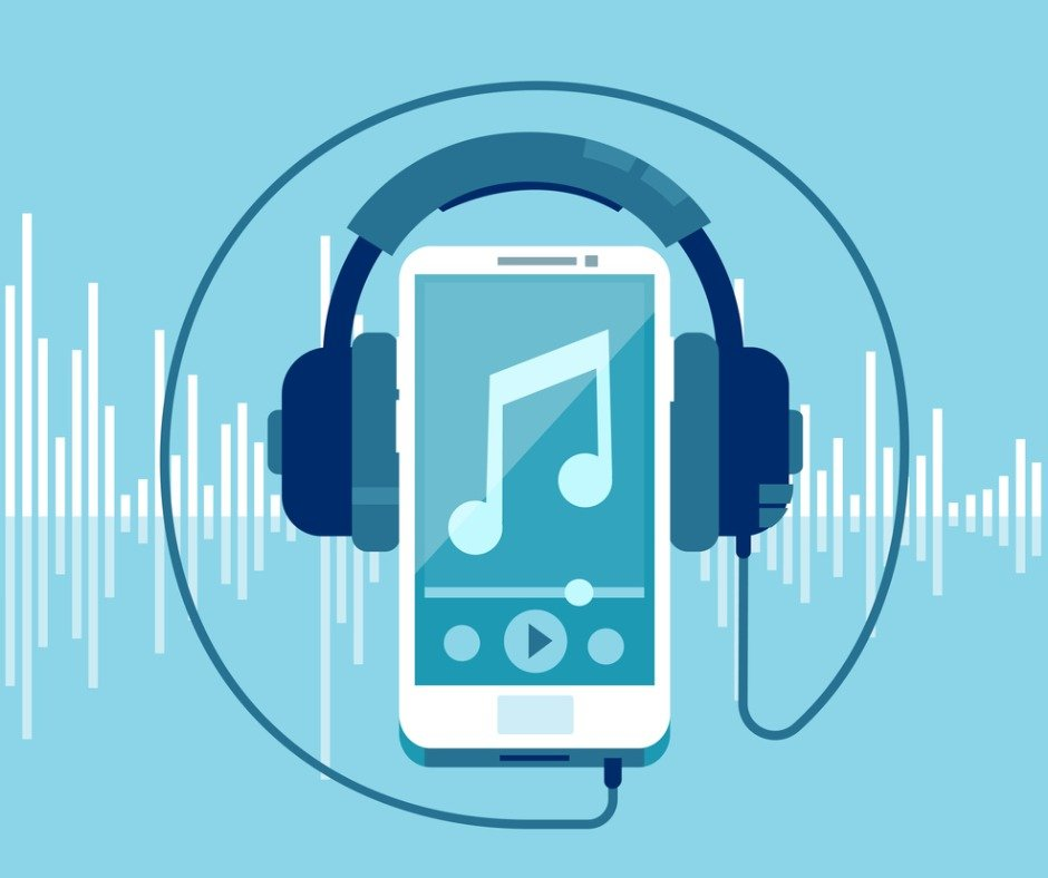 Vector Of A Smart Phone And Headphones Vector Id1138180728