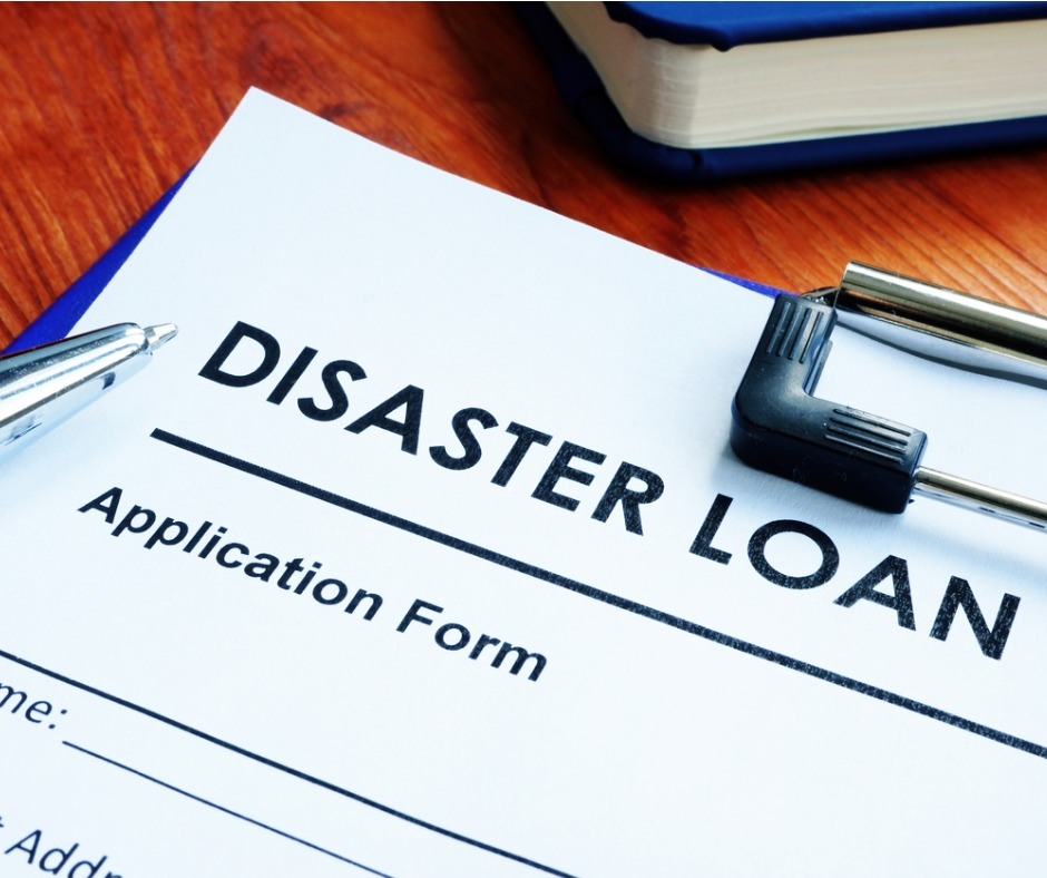 Disaster Loan Application Form On The Wooden Surface Picture Id1217182811