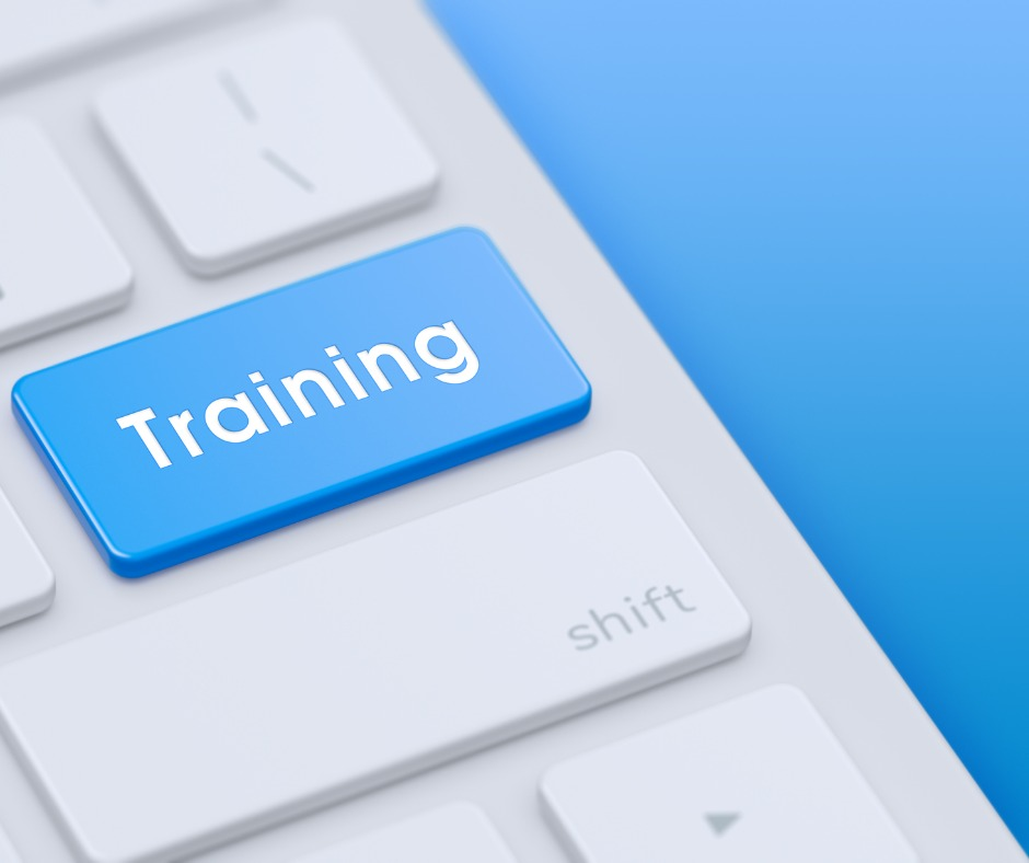 Keyboard With Blue Training Key Picture Id1206284477