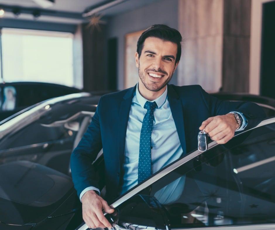 Businessman Enjoying New Car Picture Id1039931282
